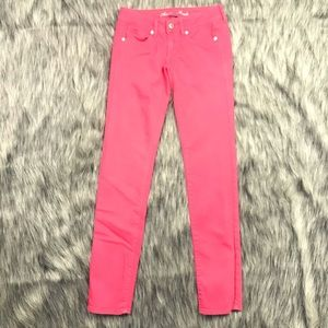 American Eagle Womens Skinny Pink Jeans Size 0